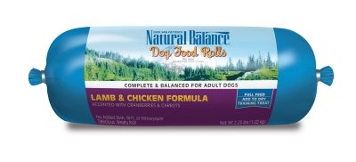 "LAMB/CHICKEN FOOD ROLL 2.25LBS ""Ctg: NATURAL BALANCE - NA DOG DRY"""