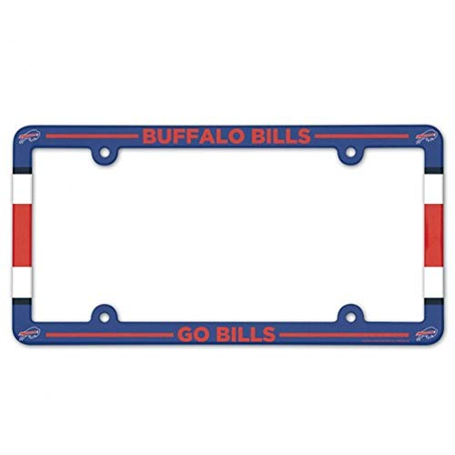WinCraft NFL Buffalo Bills License Plate with Full Color Frame