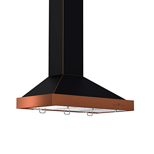 ZLINE Z Line KB2-BCXXX-36 36″ 760 CFM Designer Series Wall Mount Range Hood, Black, Oil-Rubbed Bronze