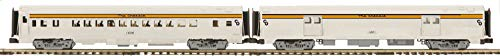 Car Baggage Streamlined - MTH 20-64050 Chesapeake & Ohio 2-Car 70' Streamlined Baggage/Coach Passenger Set (Ribbed Sided)