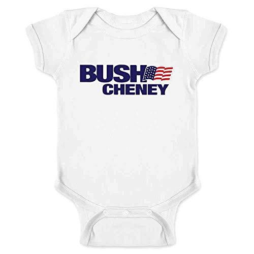 - Pop Threads George W Bush Dick Cheney President Campaign Retro White 6M Infant Bodysuit