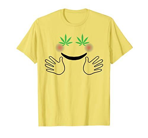 420 Halloween Costumes (Weed Eyes Smile Hugging Emojis Stoner 420 Halloween Costume)