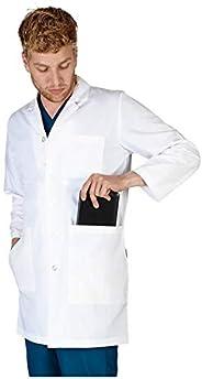 """Natural Uniforms Mens IPAD LAB Coat 38"""" L"""