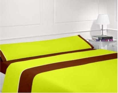 Juego S/ábana 3 Piezas 100/% Poli/éster Nice Colors Fucsia, 90/_x/_200/_cm Fabricado Espa/ña
