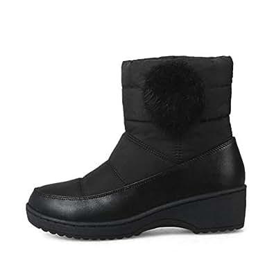 Amazon.com   Women's Warm Ankle Boots Winter Plush Fur