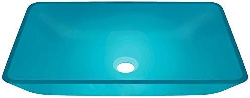640 Turquoise Coloured Glass Vessel Bathroom Sink