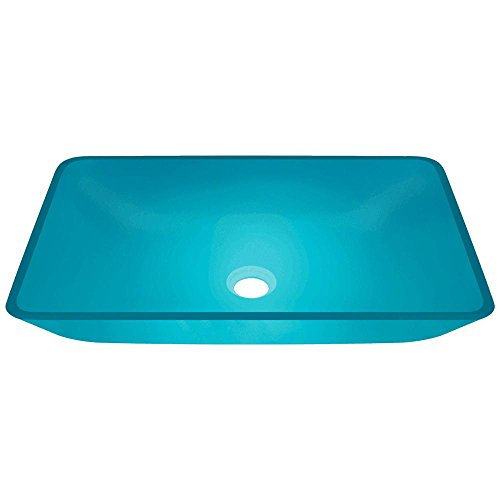 640 Turquoise Coloured Glass Vessel Bathroom Sink