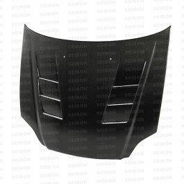 Seibon TS-Style Carbon Fiber Hood for 1999-2000 Honda Civic ()