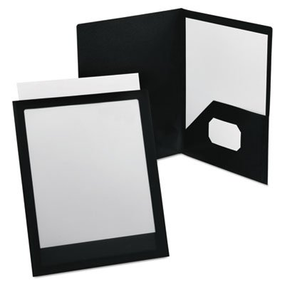 ViewFolio Polypropylene Portfolio, 50-Sheet Capacity, Black/Clear, Sold as 2 Each