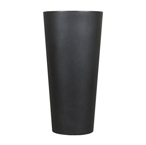 Tusco Products CTR32BK Cosmopolitan Round Garden Planter, 32-Inch, -