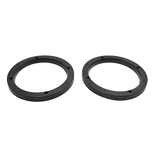 "uxcell 2pcs Universal Black Plastic 7"" Car Audio Speaker Mou"
