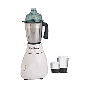 NIKI TASHA Mixer Grinder with 2 Jars-White-400-Watt