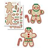 CUSA Build Your Own Gingerbread Man Boy and Girl Sticker Sheets (Set of 12)
