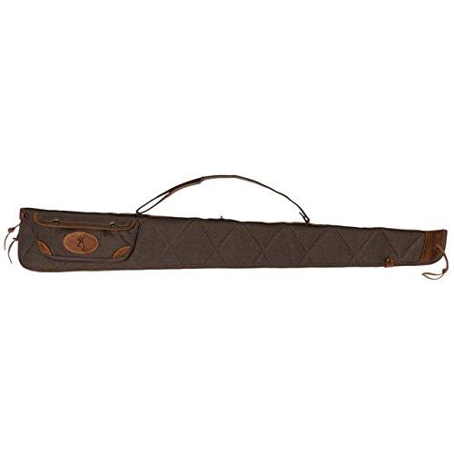 Browning 1413886952 Canvas/Leather Shotgun Case Sizenameinternal 1413886952 Lona Case, Size 52 ,Flint/Brown