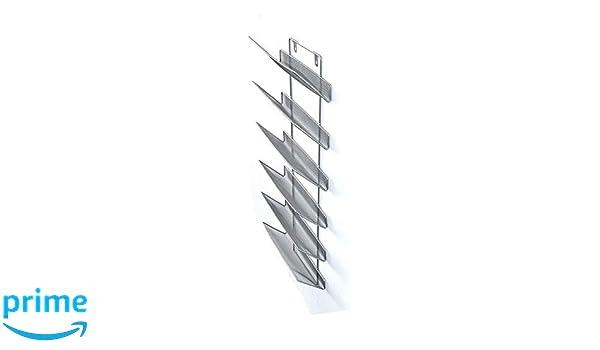 Shine Soporte de pared largo de 6 niveles para organizar literatura, Archivador colgante de revistas, organizador de casa y oficina: Amazon.es: Oficina y ...