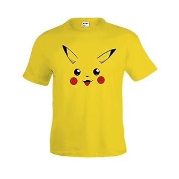Camiseta Pokemon - Pikachu Face (Talla: 11-12 años): Amazon.es: Deportes y aire libre