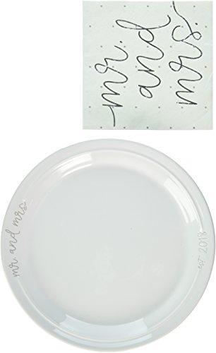 - Mud Pie Mr. and Mrs. Wedding Dessert Serving Plate Set