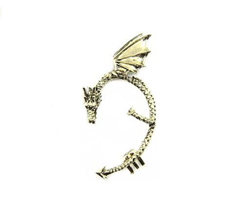 Eternity Hoop Pierced Earrings - Adorable Woman Classic Dragon Ear Wrap Cuff Earring Punk Rock Left Ear