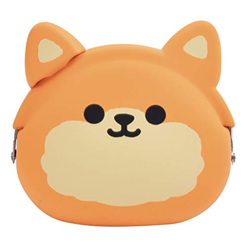 p+g design Mimi POCHI Friends Silicone Coin Purse, Pomeranian Dog - Cute Change Pouch for Money, Makeup and Hair Accessories - Authentic Japanese Design - Durable Quality (Pomeranian Coin Purse)