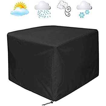 Terrific Womaco Heavy Duty Square Patio Fire Pit Table Cover Waterproof Outdoor Furniture Cover 48 X 48 X 29 Black Spiritservingveterans Wood Chair Design Ideas Spiritservingveteransorg