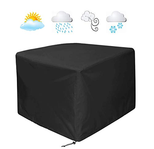 (WOMACO Heavy Duty Square Patio Fire Pit/Table Cover, Waterproof Outdoor Furniture Cover (48