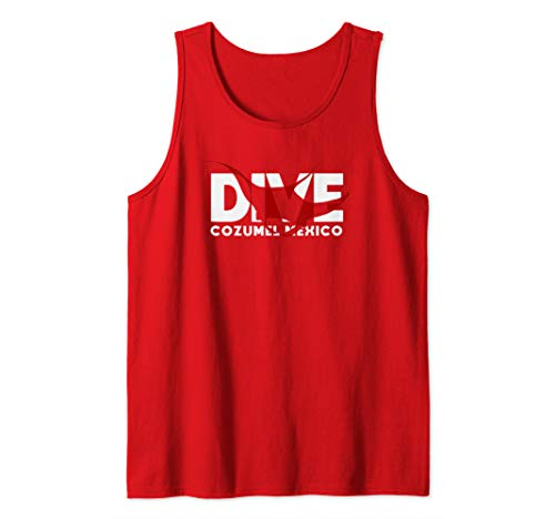 DIVE Cozumel Mexico SCUBA DIVING Diver Manta Ray Tank Top