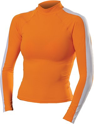 Women's Anti-UV Long Sleeve Rash Guard Swimsuit (Orange) - 5