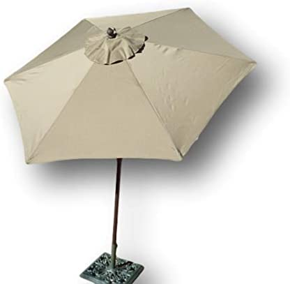 Formosa Covers 7.5 Foot Aluminum Market Umbrella, Crank Tilt, Strong Fiberglass Ribs, UV Treated, Perfect for Patio, Small Bistro, Deck – Color in Taupe