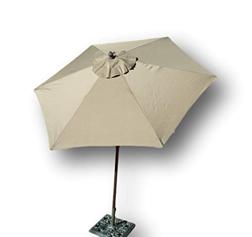(Formosa Covers 7.5 Foot Aluminum Market Umbrella, Crank & Tilt, Strong Fiberglass Ribs, UV Treated, Perfect for Patio, Small Bistro, Deck - Color in Taupe )