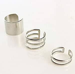 3Pcs/Set Fashion Top Of Finger Over The Midi Tip Finger Above The Knuckle Open Ring