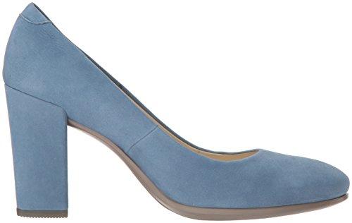 Ecco 75 Bout Escarpins Fermé 2471retro Femme Bleu Blue Block Shape rrqwaA