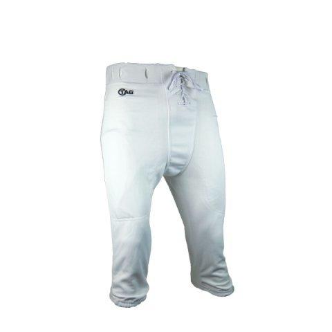 Lightweight Adult Football (TAG Adult Slotted Football Pants 2X-Large (White) Waist)