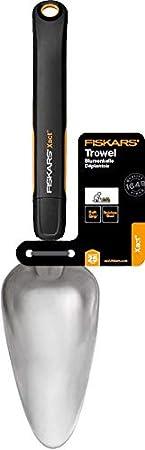 1027047 Longueur : 32,3 cm Noir//Orange Largeur: 9,2 cm Fiskars Griffe de jardin /à 3 dents Acier inoxydable//Plastique Xact