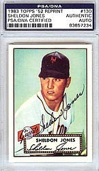 Sheldon Jones Signed 1983 Topps 1952 Reprint Trading Card #130 New York Giants - PSA/DNA Authentication - Autographed MLB Baseball Cards from Sports Collectibles Online