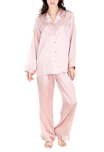 Womens 100% Silk Pajama - 1