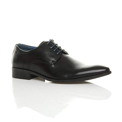 Ajvani Mens Pointed Oxford Shoes Size Black