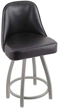 Holland Bar Stool Co. 84025ANBlkVinyl 840 Grizzly Counter Stool, 25 Seat Height, Black Vinyl