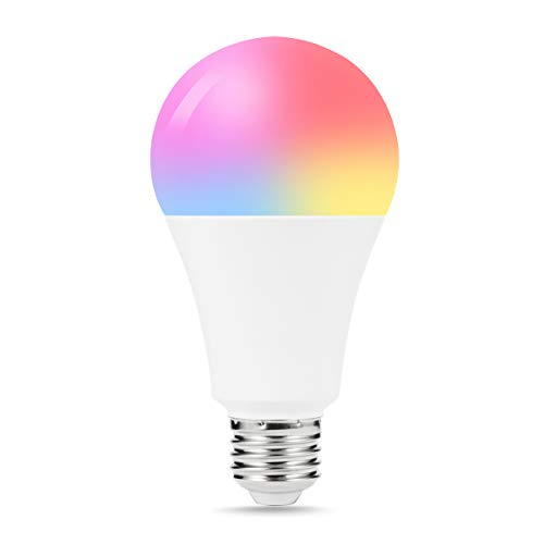 LOHAS Smart Light Bulb, A21 Color Changing WiFi Control LED Bulbs, E26 Smart RGB Cool White Light, 100W Equivalent High Brightness Bulb, Dimmable with APP Alexa Google Assistant Compatible Light