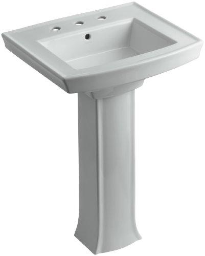 rcher Pedestal Bathroom Sink with 8