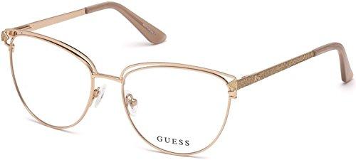 Guess GU2685 Eyeglass Frames - Shiny Rose Gold Frame, Shiny Rose Gold Lenses, 53 mm GU268553028