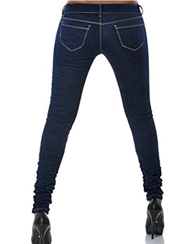 Boyfriend Taille Basse Pantalon Push Femme Up Jeans Bleu Guiran Fonc Skinny Stretch Jeggings wHqSE0qg