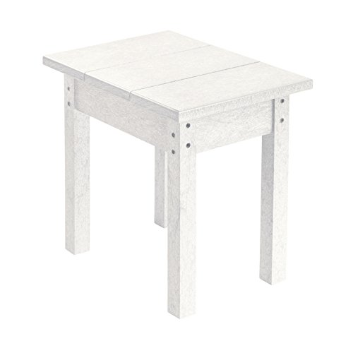 Recycled Plastic Small Side Table, White, 17 L x 17 W x 17 H
