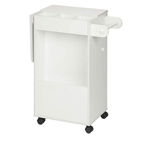 Honey-Can-Do CRT-06343 Rolling Craft Storage Cart, White