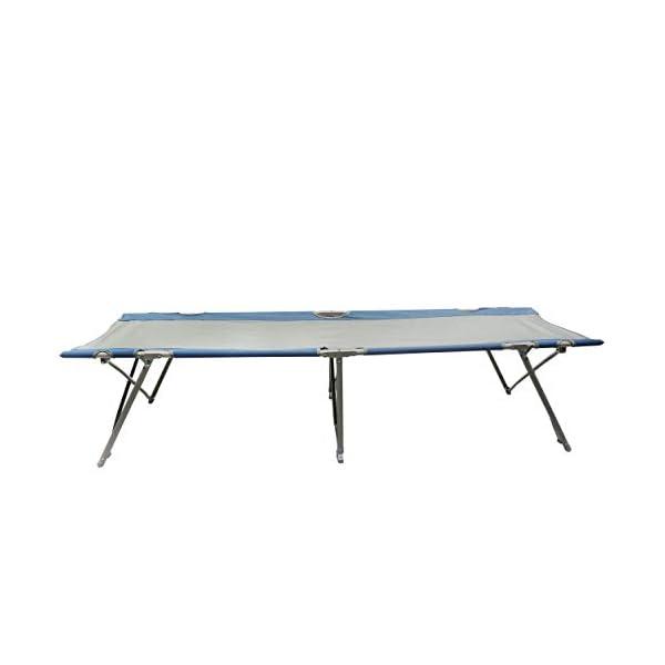 Homecall Letto pieghevole da campeggio colore grigio/blu 2 spesavip