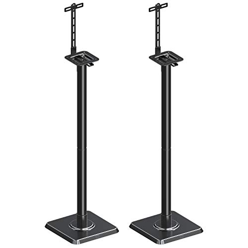 Mounting Dream Speaker Stand Speaker Floor Stand Sound Stand Mount Built-in Cable Management Universal, 11LBS Capacity Per Stand with Adjustable Post Assembly for Surround Sound 2 Set