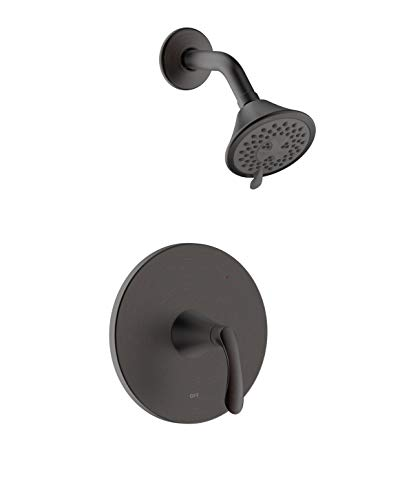 """""""Arts et Metiers,"""" MFF-AMS-ORB,"""" Fontaine by Italia, Single Handle Shower Only Trim Set with Multi-Function Shower Head and Rough-in Valve in Oil Rubbed Bronze"""