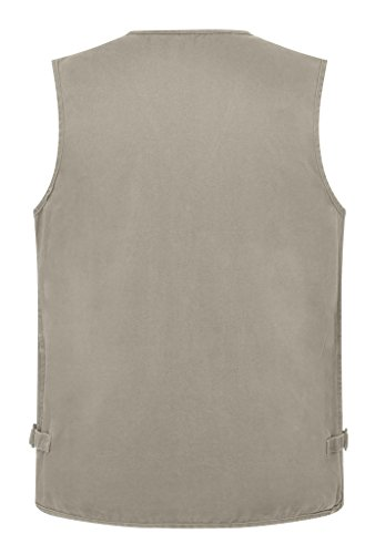 Wantdo Men s Multiple Pockets Cotton Safari Fishing Vest