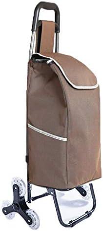 折りたたみ式ショッピングカート、軽量食料品の買い物小物入れFoldableポータブルトローリー家庭用荷物のトレーラーG4 (色 : D)