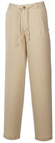 Linen Viscose Wide Leg Pant - Weekender® Men's ST. Barts Linen Pant Khaki 40