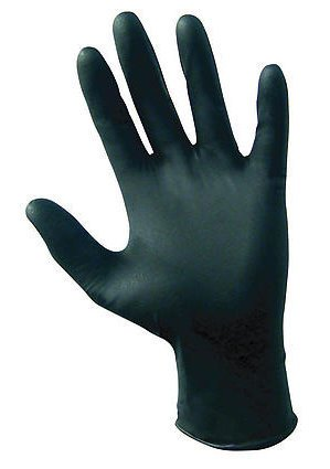 SAS Safety 66520 Raven Powder-Free Disposable Black Nitrile 6 Mil Gloves, XX-Large, 1000 Gloves by Weight (Case of 10 Boxes / 100) by SAS Safety